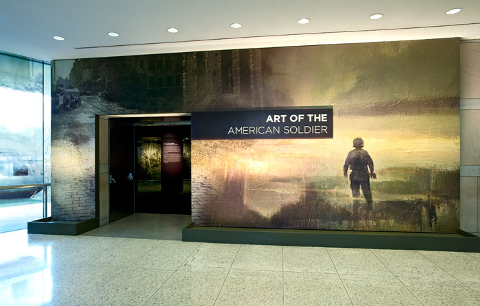 Art of the American Soldier - title wall